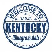 Welcome to Kentucky stamp — Stockvektor