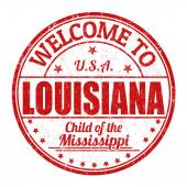 Welcome to Louisiana stamp — Stock Vector