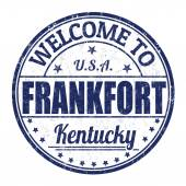 Welcome to Frankfort stamp — Stock Vector