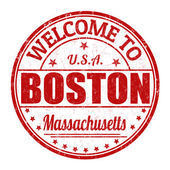 Welcome to Boston stamp — Stockvektor