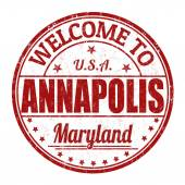 Welcome to Annapolis stamp — Stock Vector