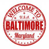 Welcome to Baltimore stamp — Stock Vector