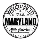 Welcome to Maryland stamp — Stock Vector