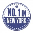 Number one in New York stamp — Stock Vector #52727719
