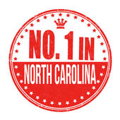 Number one in North Carolina stamp — Stock Vector