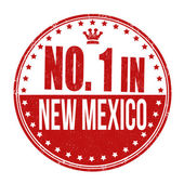Number one in New Mexico stamp — Stockvector