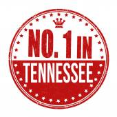 Number one in Tennessee stamp — Stock Vector