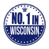 Number one in Wisconsin stamp — Stock Vector