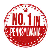 Number one in Pennsylvania stamp — Stock Vector