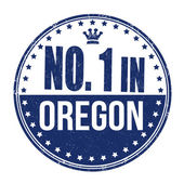 Number one in Oregon stamp — Stock Vector