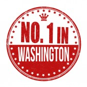 Number one in Washington stamp — Stock Vector