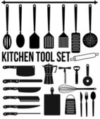 Kitchen tool icons set — Stock Vector