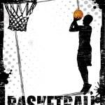 Dirty basketball poster — Stock Vector #52969891