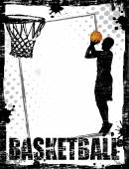 Dirty basketball poster — Stock Vector