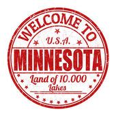 Welcome to Minnesota stamp — Stock Vector