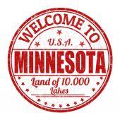 Welcome to Minnesota stamp — Stock Vector