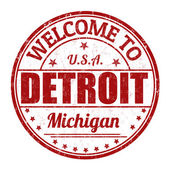 Welcome to Detroit stamp — Stock Vector