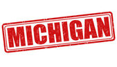 Michigan stamp — Stock Vector