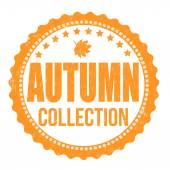 Autumn collection stamp — Stock Vector