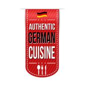 Návrh nápisu autentické německé kuchyně — Stock vektor