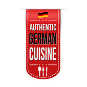 Authentic german cuisine banner design — Stok Vektör