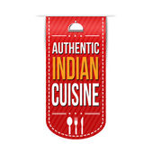 Authentic indian cuisine banner design — Stock Vector