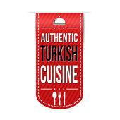 Authentic turkish cuisine banner design — Stock Vector