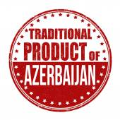 Traditional product of Azerbaijan stamp — Stock Vector