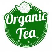 Organic tea stamp — Stock Vector