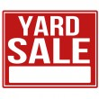 Yard sale red sign with copy space — Stock Vector #53669991