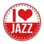 I love jazz stamp — Stock Vector