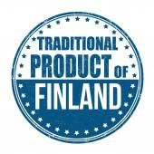 Traditional product of Finland stamp — Stockvektor
