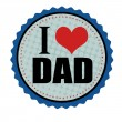 I love dad sticker or stamp — Stock Vector #53817791