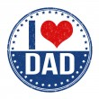 I love dad stamp — Stock Vector #53817909