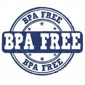 BPA Bisphenol-A free stamp — Stock Vector