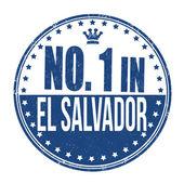 Number one in El Salvador stamp — Stock Vector