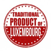 Traditional product of Luxembourg stamp — Stok Vektör