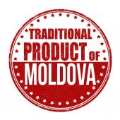 Traditional product of Moldova stamp — Stock Vector