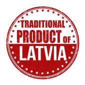 Traditional product of Latvia stamp — Stock Vector