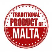 Traditional product of Malta stamp — Stock Vector