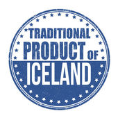 Traditional product of Iceland stamp — Stock Vector