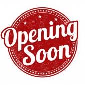 Selo de abertura em breve — Vetor de Stock