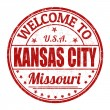 Welcome to Kansas City stamp — Stock Vector
