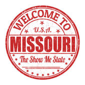 Welcome to Missouri stamp — Stock Vector