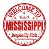 Welcome to Mississippi stamp — Stock Vector