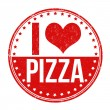 I love pizza stamp — Stock Vector #54640511