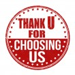 Thank you for choosing us stamp — Stock Vector #54640729