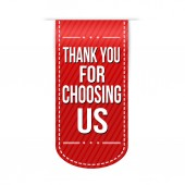 Thank you for choosing us banner design — Stock Vector