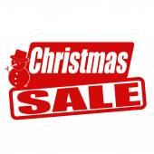 Christmas sale stamp — Stock Vector