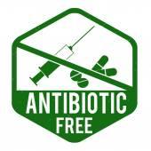 Antibiotic free stamp — Stok Vektör